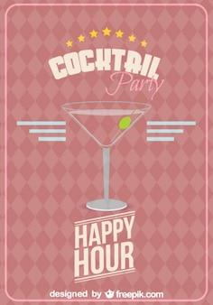 Vettore bicchiere da cocktail libero