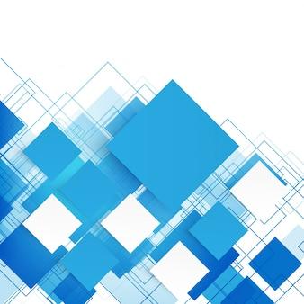 Vettore blu piazze. sfondo astratto.