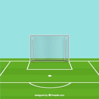 Vettore campo da calcio di punizione per il download