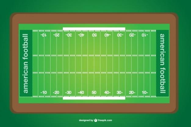 Vettore campo di football americano