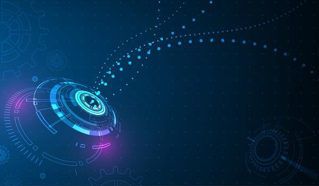 Vettore cerchio tecnologia e tecnologia di sfondo.