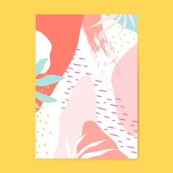 Vettore colorato del manifesto di stile di memphis