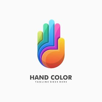 Vettore colorato dell'illustrazione della mano