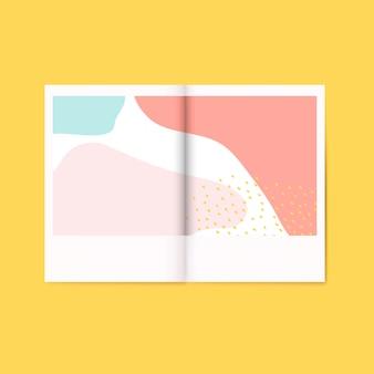 Vettore colorato della rivista di progettazione di memphis