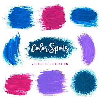 Vettore colorato luminoso spruzzi elemento per i vostri progetti disegni