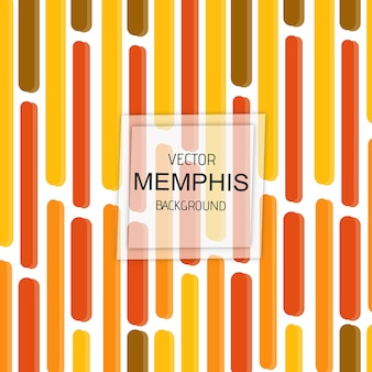 Vettore colorato memphis background