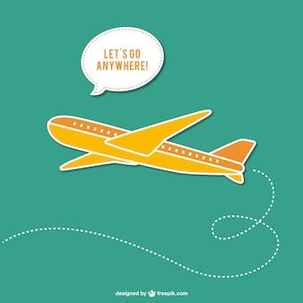 Vettore con aereo viaggiare