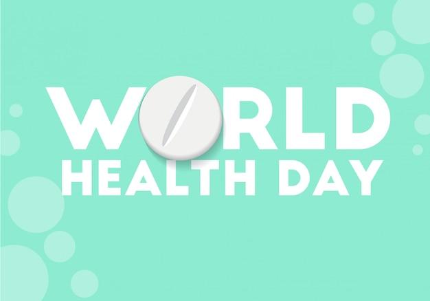 Vettore concettuale dell'illustrazione di giorno di salute di mondo