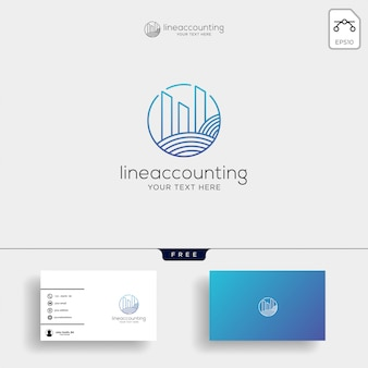Vettore creativo del modello di logo di finanza di contabilità isolato