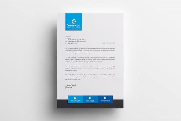 Vettore creativo del modello di progettazione della carta intestata