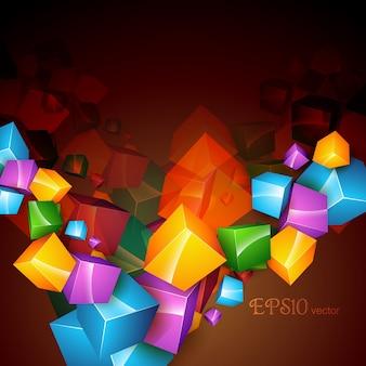 Vettore cubo arte astratto sfondo