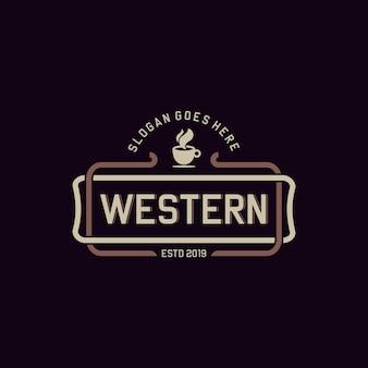 Vettore d'annata del caffè occidentale minimalista