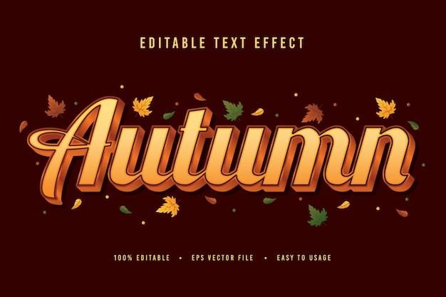 Vettore decorativo di carattere e alfabeto di autunno