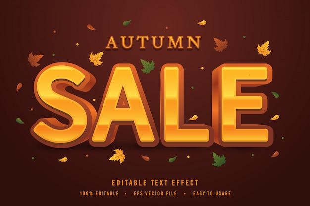 Vettore decorativo di carattere e alfabeto di vendita di autunno