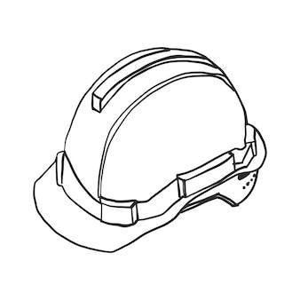 Vettore del casco del doodle