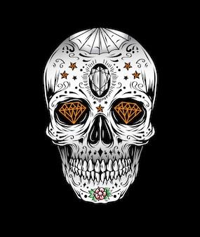 Vettore del cranio di muertos