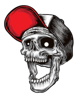Vettore del cranio hardcore