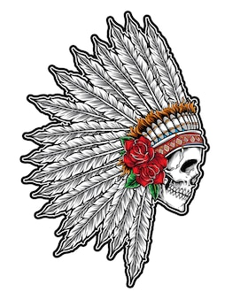 Vettore del cranio indiano