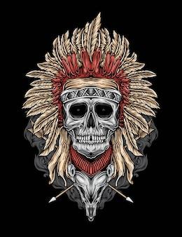 Vettore del cranio nativo