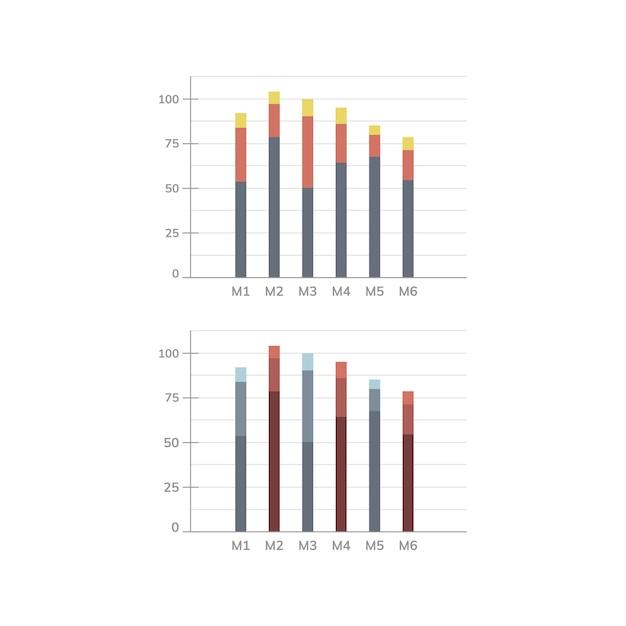 Vettore del diagramma di statistiche del diagramma a colonna