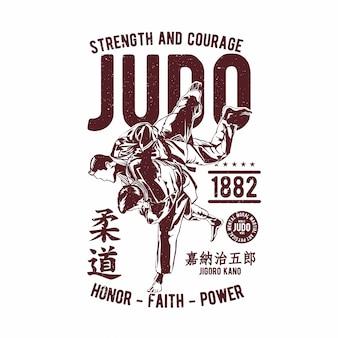 Vettore del disegno della mano di judo