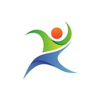 Vettore del fondamento della gente logo