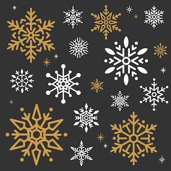 Vettore del fondo di progettazione di natale del fiocco di neve
