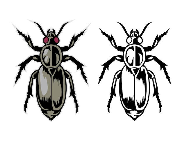 Vettore del fumetto degli insetti