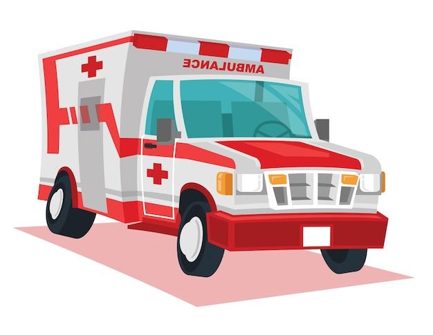 Vettore del fumetto dell'automobile dell'ambulanza;