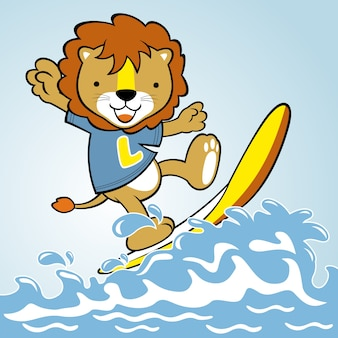 Vettore del fumetto surfer