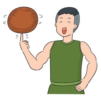 Vettore del giocatore di pallacanestro