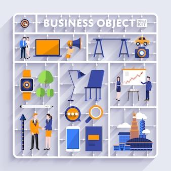 Vettore del kit di strumenti di business