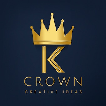 Vettore del marchio corona premium k