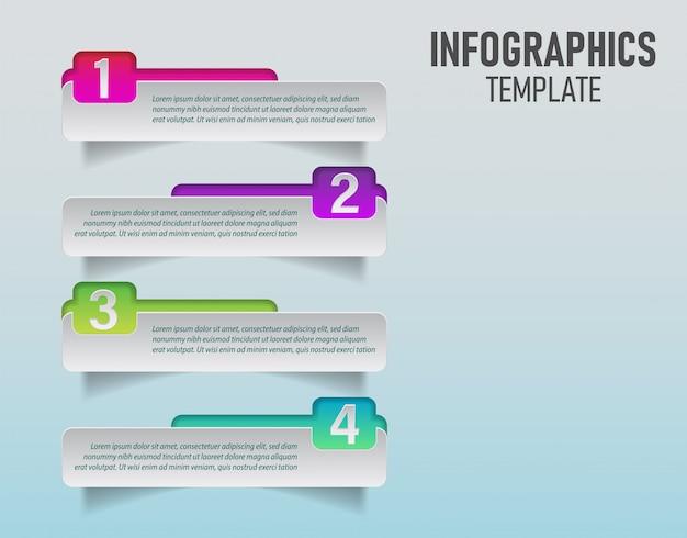 Vettore del modello colorato infografica