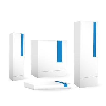 Vettore del modello del set di scatole