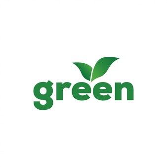 Vettore del modello di progettazione di logo della foglia verde isolato