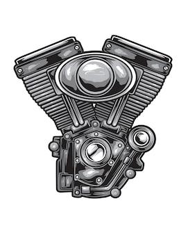 Vettore del motore del motociclo