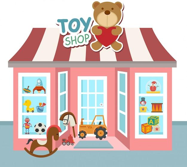 Vettore del negozio di giocattoli