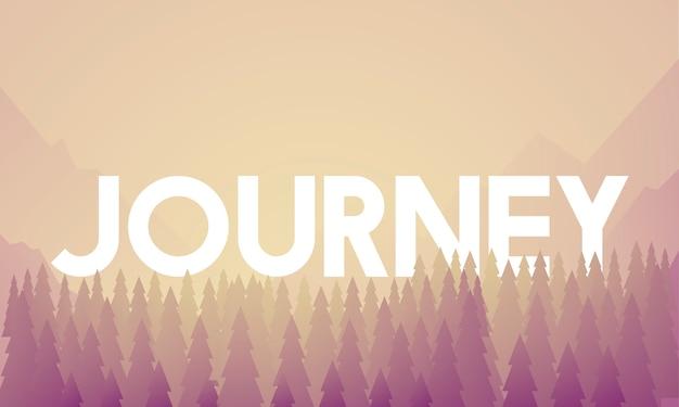 Vettore del paesaggio della destinazione di avventura di viaggio