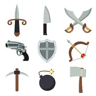 Vettore dell'arma di armer della spada della bomba dell'ascia della pistola dell'arma
