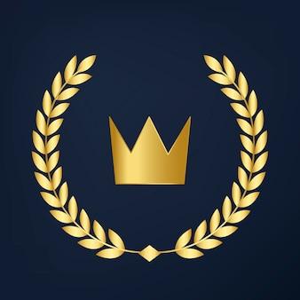 Vettore dell'icona della corona di qualità premium