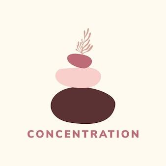 Vettore dell'icona di concentrazione e meditazione
