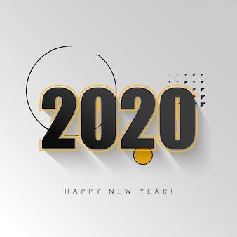 Vettore dell'illustrazione del fondo del buon anno 2020