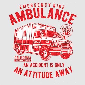 Vettore dell'illustrazione della mano dell'ambulanza di emergenza