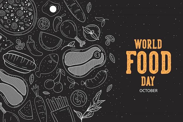 Vettore dell'illustrazione di giornata mondiale dell'alimentazione