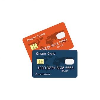 Vettore dell'illustrazione di progettazione grafica della carta di credito isolato
