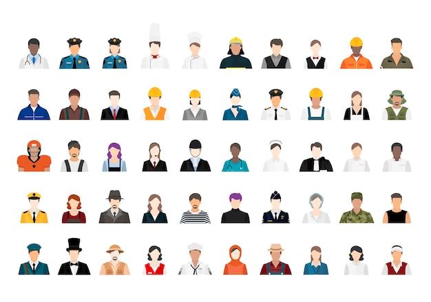 Vettore dell'illustrazione di varie carriere e professioni