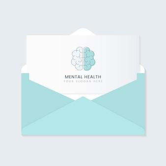 Vettore dell'opuscolo pubblicitario di salute mentale
