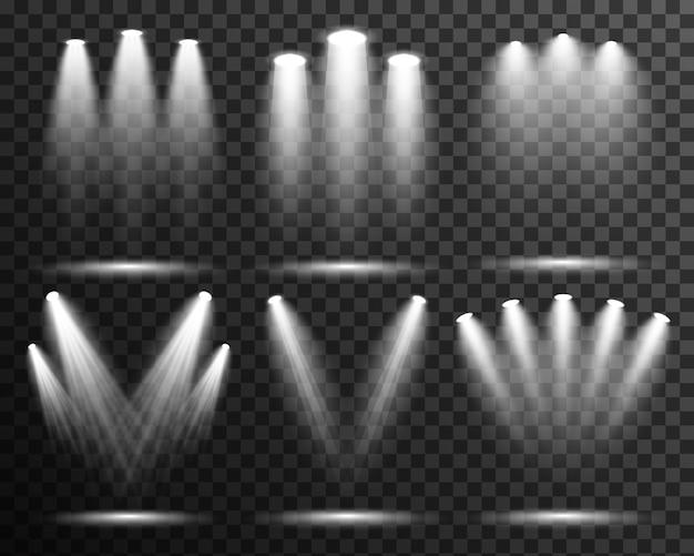 Vettore della fase di raccolta della luce di illuminazione del punto trasparente