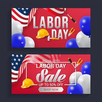 Vettore della priorità bassa della bandiera di festa del lavoro